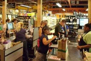 Downtown Burlington's City Market Onion River Co-op offers food access opportunities to typically underserved populations. Image source: http://ncsustainabilitycenter.org/communities/market-helps-revitalize-downtown-burlington
